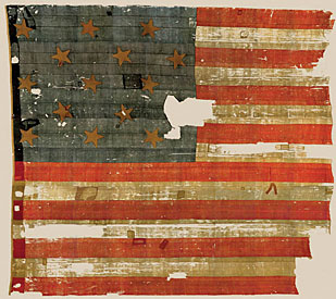 The original Old Glory, via the(Smithsonian)